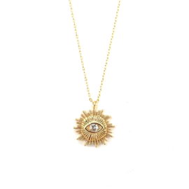 CRYSTAL EYE KETTING GOLD PLATED