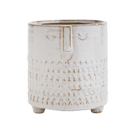 FLOWER POT W/ FACE WHITE / MADAM STOLTZ