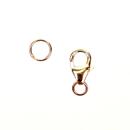 SLOT & SPLITRING SET GOLD VERMEIL