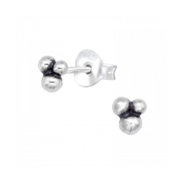 3 DOTS STUDS STERLING SILVER