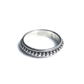 BEADED RING STERLING ZILVER
