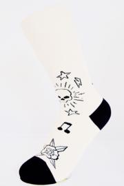 Replay Dames Sokken, Tattoo Classics B&W, maat 35-38