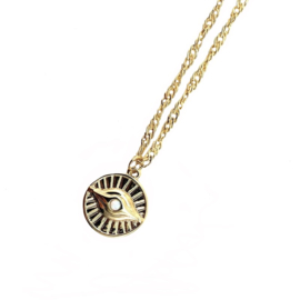 OPAL EYE GOLD PLATED NECKLACE