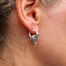 SPIKE 5 HOOPS STERLING ZILVER OORBELLEN