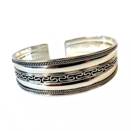 TRIBAL BANGLE STERLING ZILVER ARMBAND