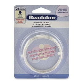 BEADALON BUIGDRAAD 26 GAUGE ROUND SILVER PLATED (0.41 MM)