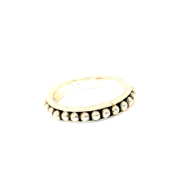 BEADED ROUND RING STERLING ZILVER 19.5