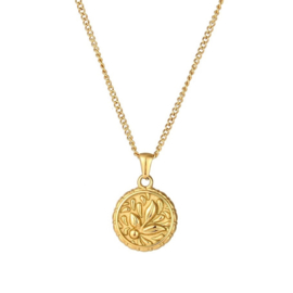FLORAL NECKLACE GOLD PLATED