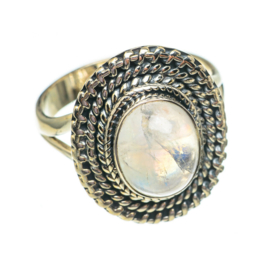 MOONSTONE OVAL TWIST RING STERLING SILVER 19