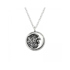 MOON STERLING ZILVER KETTING