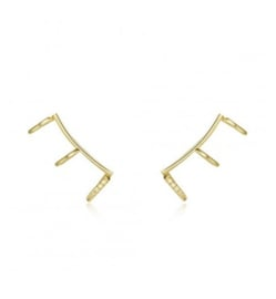 TRIPLE GOLD VERMEIL EAR CUFF