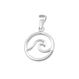 WAVE PENDANT STERLING SILVER