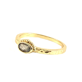 LABRADORIET OVAL CROWN RING GOLD VERMEIL / MUJA JUMA