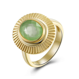CHALCEDONE OVAL RING GOLD VERMEIL