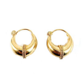 STRIPED HOOPS GOLD VERMEIL OORBELLEN