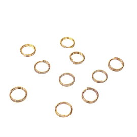 SPLITRINGEN 5 MM GOUD ROND RVS (10X)
