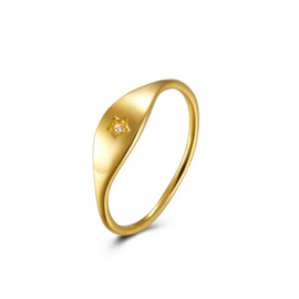 TINY STAR  RING GOLD VERMEIL