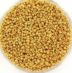 MIYUKI ROCAILLES 1.5 MM, 24KT GOLD PLATED 15-191
