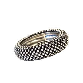 TRIBAL DOTTED RING STERLING SILVER 17.75