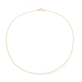 SHORT NECKLACE GOLD VERMEIL