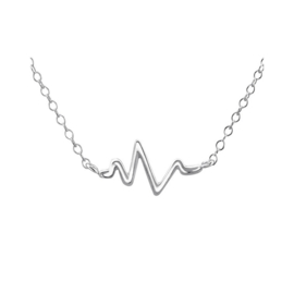HEARTBEAT NECKLACE STERLING SILVER