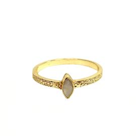 BUTTERFLY PINK OPAL RING GOLD VERMEIL / MUJA JUMA