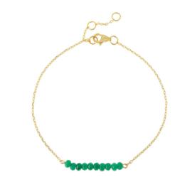 GREEN ONYX GOLD VERMEIL BRACELET