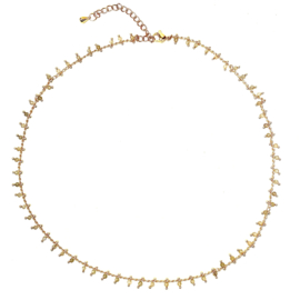 LABRADORIET BEADS GOLD PLATED KETTING