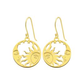 SUN & MOON GOLD VERMEIL EARRINGS