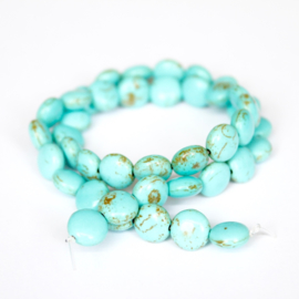 Streng Imitatie  Turquoise rond