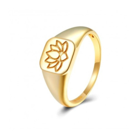 LOTUS RING GOLD VERMEIL