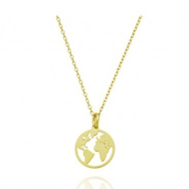 WORLD NECKLACE GOLD VERMEIL