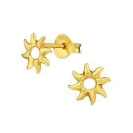 SUN GOLD VERMEIL OORSTEKERS