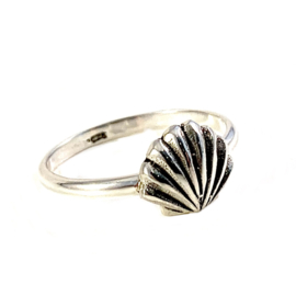 SHELL RING STERLING ZILVER