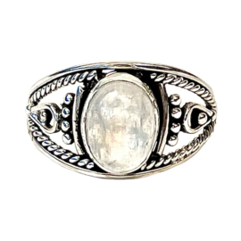 MOONSTONE BOHO RING STERLING SILVER