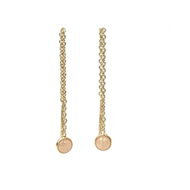 ROZE MAANSTEEN GOLD VERMEIL EAR CHAINS / MUJA JUMA