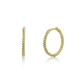 TWISTED HOOPS GOLD VERMEIL