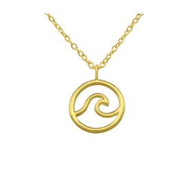 OCEAN WAVE GOLD VERMEIL KETTING