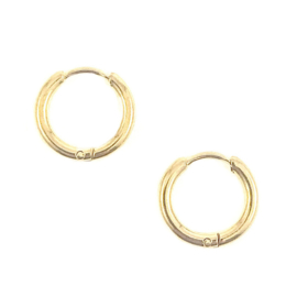 PLAIN HOOPS GOLD OORBELLEN
