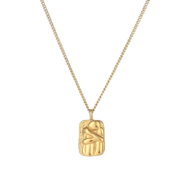 CONNECT NECKLACE GOLD PLATED