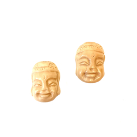 CARVED HORN BUDDHA BEAD