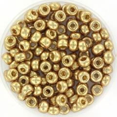 MIYUKI ROCAILLES, 4 MM, DURACOAT GALVANIZED CHAMPAGNE 6-4204