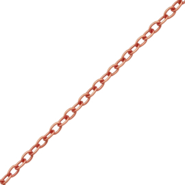 PLAIN NECKLACE ROSE GOLD VERMEIL 45 CM