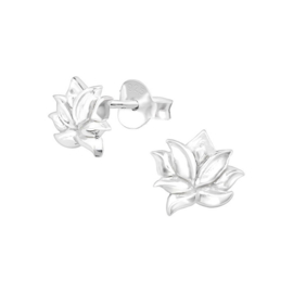 LOTUS STERLING ZILVER OORSTEKERS