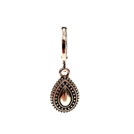 DOTTED RAINDROP EARRING