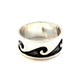 WAVE RING STERLING SILVER