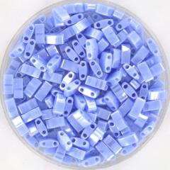 MIYUKI TILA'S, HALF 5 X 2.3  MM KRALEN, OPAQUE LUSTER LIGHT PERIWINKLE 446