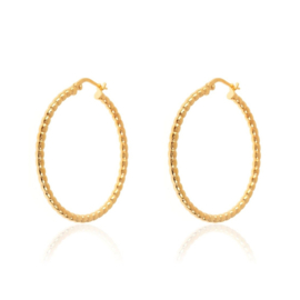 DOTTED HOOPS GOLD VERMEIL 25MM