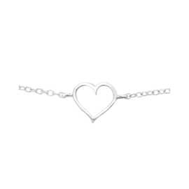 HEART STERLING ZILVER ARMBAND