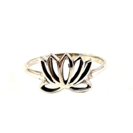 LOTUS RING STERLING ZILVER